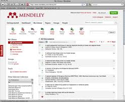 Mendeley logo for citations and bibliographies article